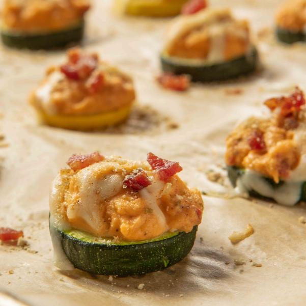 Bacon and Cheese Zucchini Bites
