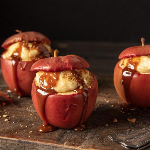Caramel Cheesecake Baked Apples