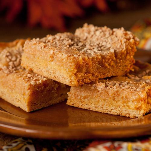 Ooey Gooey Pumpkin Butter Cake Bars