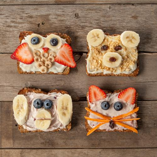 Healthy Cream Cheese Toast Critters Recipe for Kids