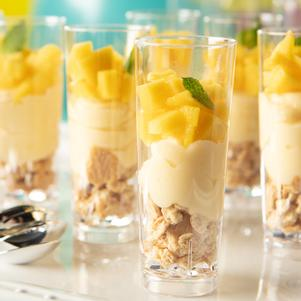 Juicy Mango Parfait Shooters