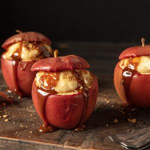 Caramel Cheesecake Baked Apples