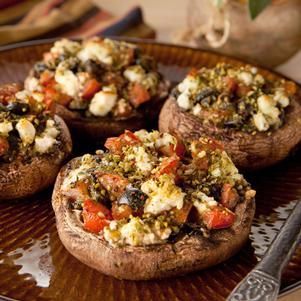 Mediterranean Stuffed Portobellos