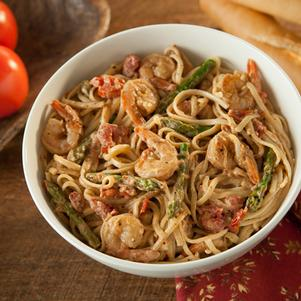 Tomato Basil Pasta with Shrimp