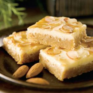 White Chocolate Amaretto Cheesecake Bars