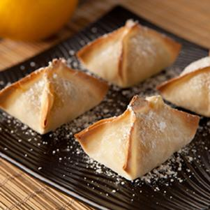 Baked Lemon Dessert Wonton Recipe