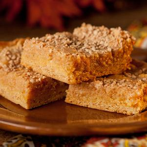 Ooey Gooey Pumpkin Butter Cake Bars