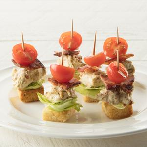Stacked Mini BLT Appetizers
