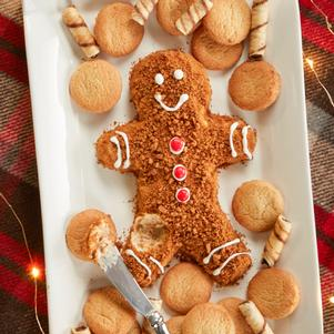 Gingerbread Man Cheeseball